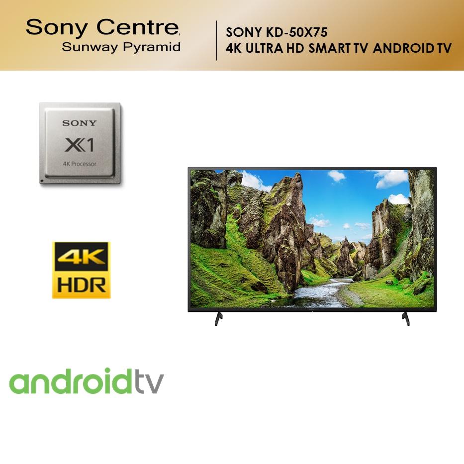"SONY BRAVIA KD X75   4K Ultra HD High Dynamic Range HDR   Smart TV Google TV (50"") KD-50X75"