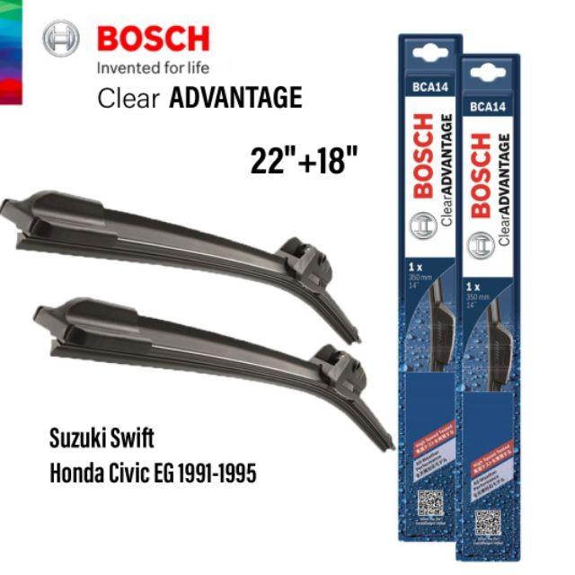 2 Genuine Bosch Clear Advantage Wiper Blades 2012-2015 Honda Civic Coupe