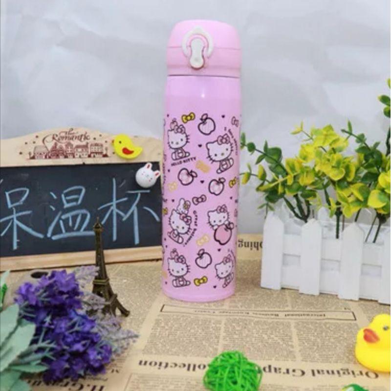 [ READY STOCK ]  Cartoon Thermo Insulation Bottle 500ml Lovely Stainless Steel Bottle Budak Kid Baby Kitchen Jualan Murah