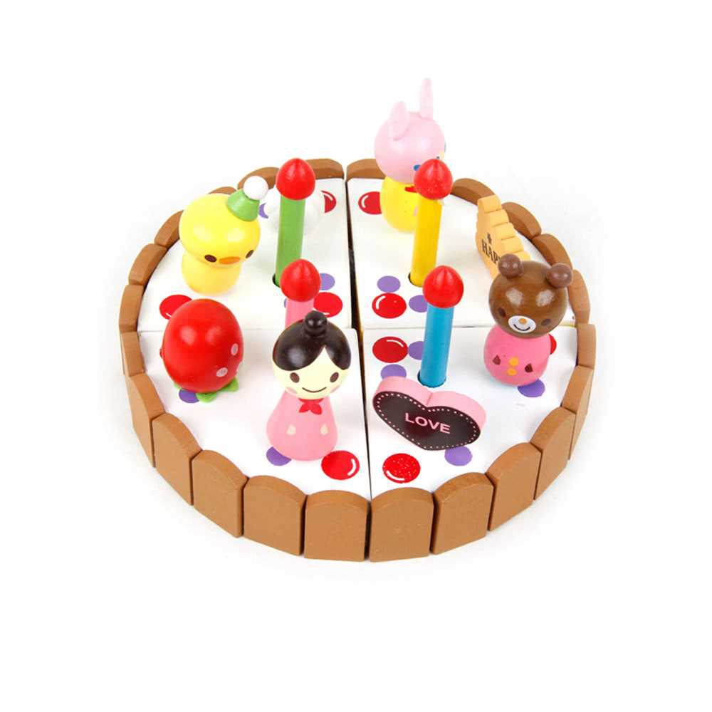 Wooden Cake Toys Set Role Play Toys For Children Learning And Educational Toys