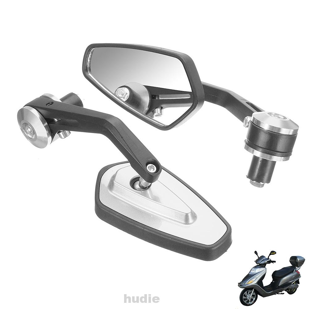 SODIAL 2 Pcs Universal Motorbike Motorcycle Rearview Mirror Aluminum Retro End Side Reflective Mirror Accessories Black