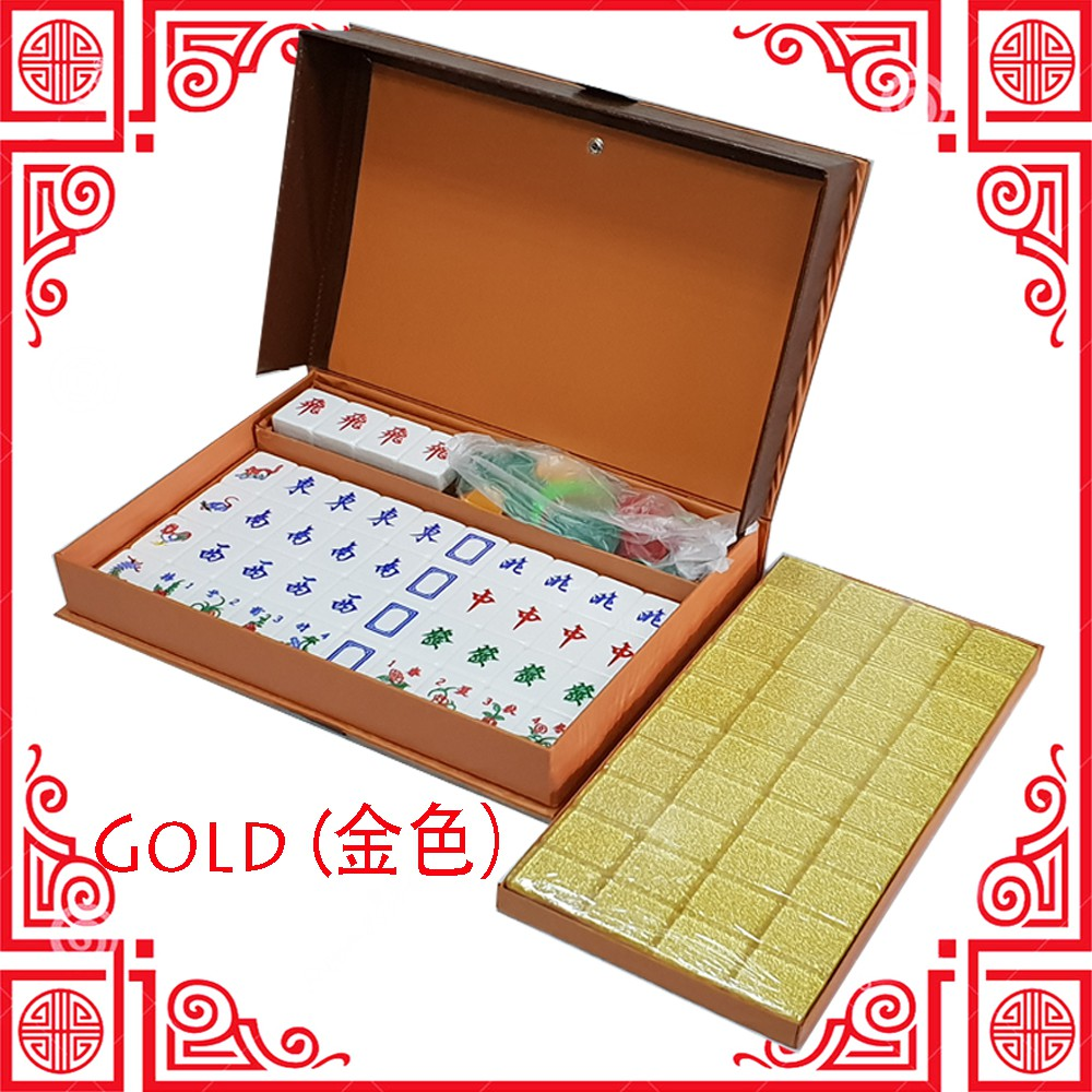 [Ready Stock]  3 Player / 4 Player Mahjong Set / Rummy Set Acrylic / Melamine Special Promotion[Fast Delivery]