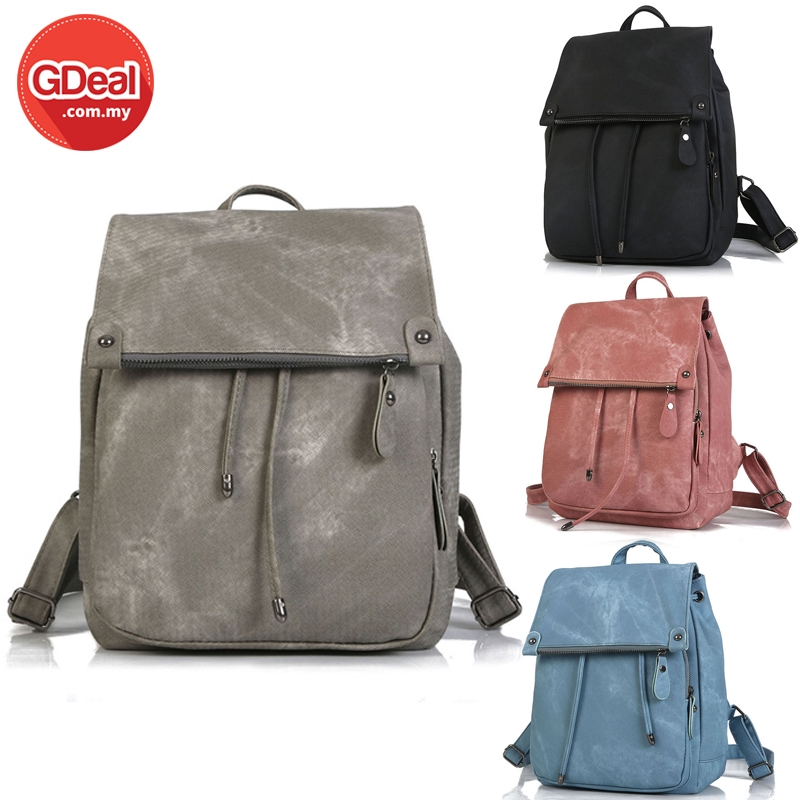 GDeal Women Fashion PU Leather Backpack Simple Women Travel Backpack (RYL-281)