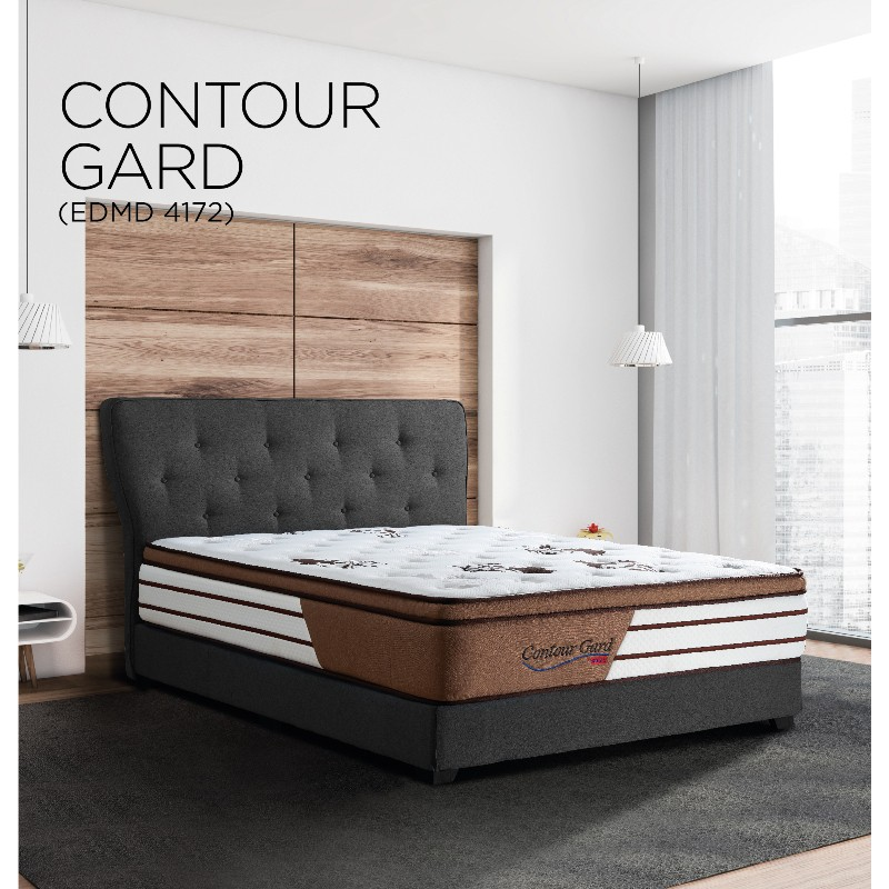 "Export Quality SpineX  Contour Gard 12"" Parallel Original Pocket System Mattress (12 inch Thickness) (10 yrs warranty)"