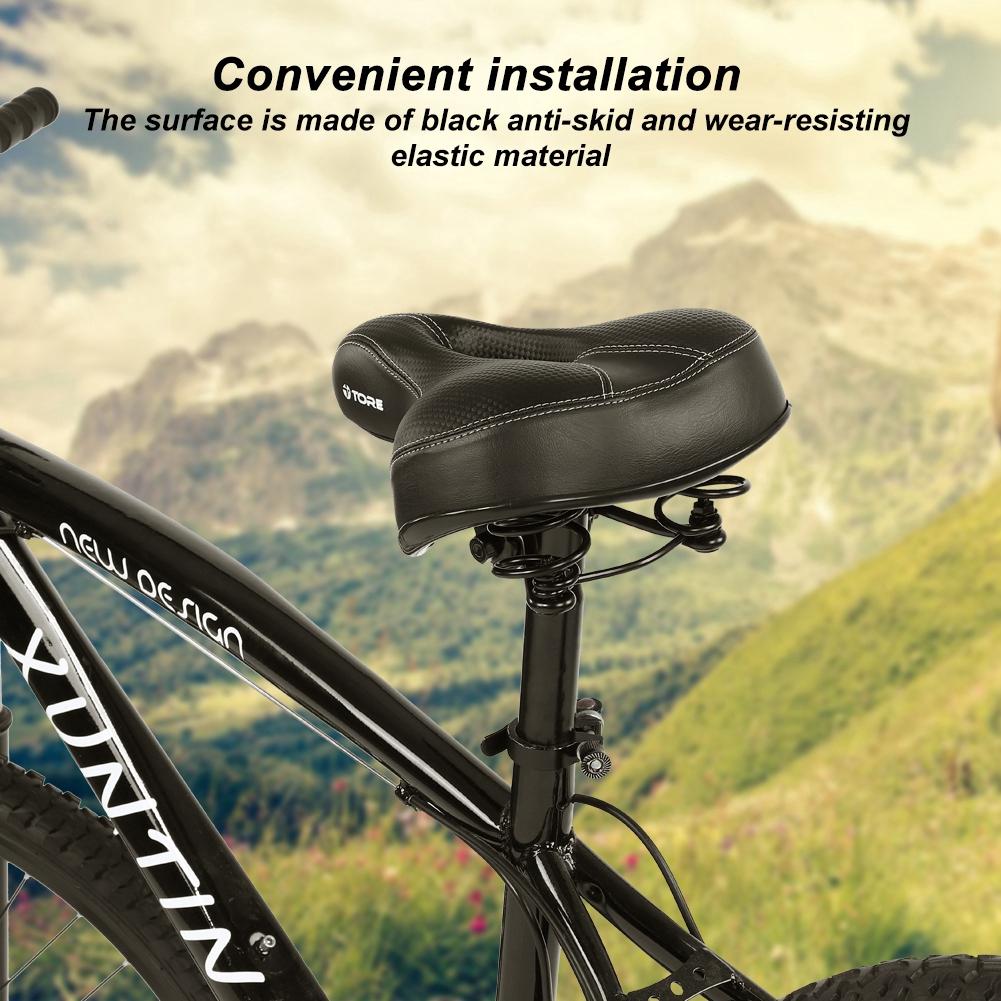 Bike MTB Cycling Road Mountain Bicycle Cushion Seat Saddle Anti-skid Soft Black