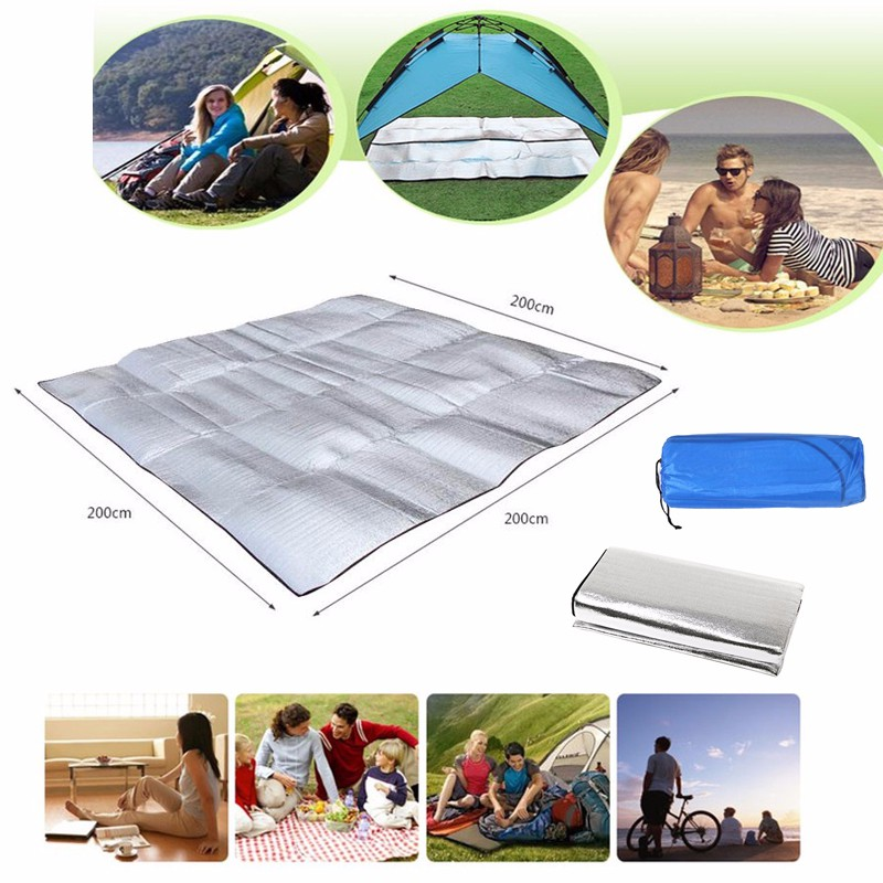 Other Camping & Hiking The Best Ipree™ 200 X 200cm Camping Picnic Moisture Proof Mat Outdooors Travel Foldable And To Have A Long Life.