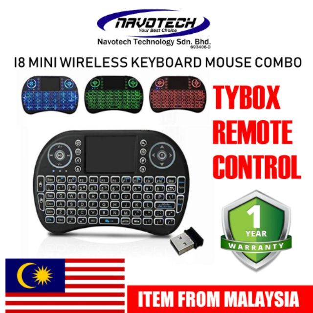 Wireless Rii I8 Air Mouse Touchpad Rechargeable And AAA Battery Mini  Keyboard Remote TV Box i8