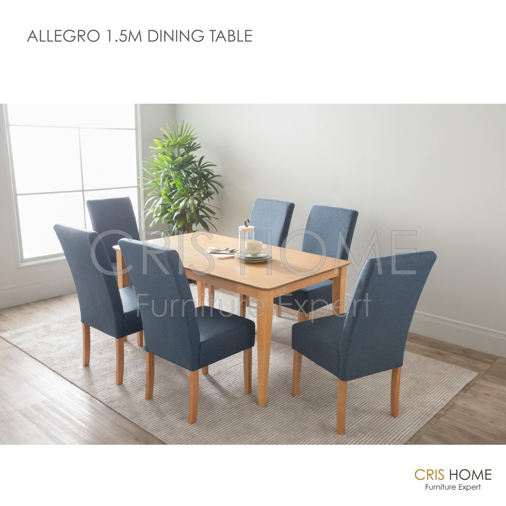 Crishome Allegro 1 5m Dining Table, Allegro Dining Room Furniture