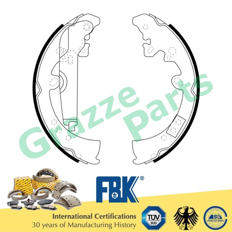 FBK Brake Shoe Rear for FK2809 Toyota Vigo KUN 25 Fortuner (With Lever)