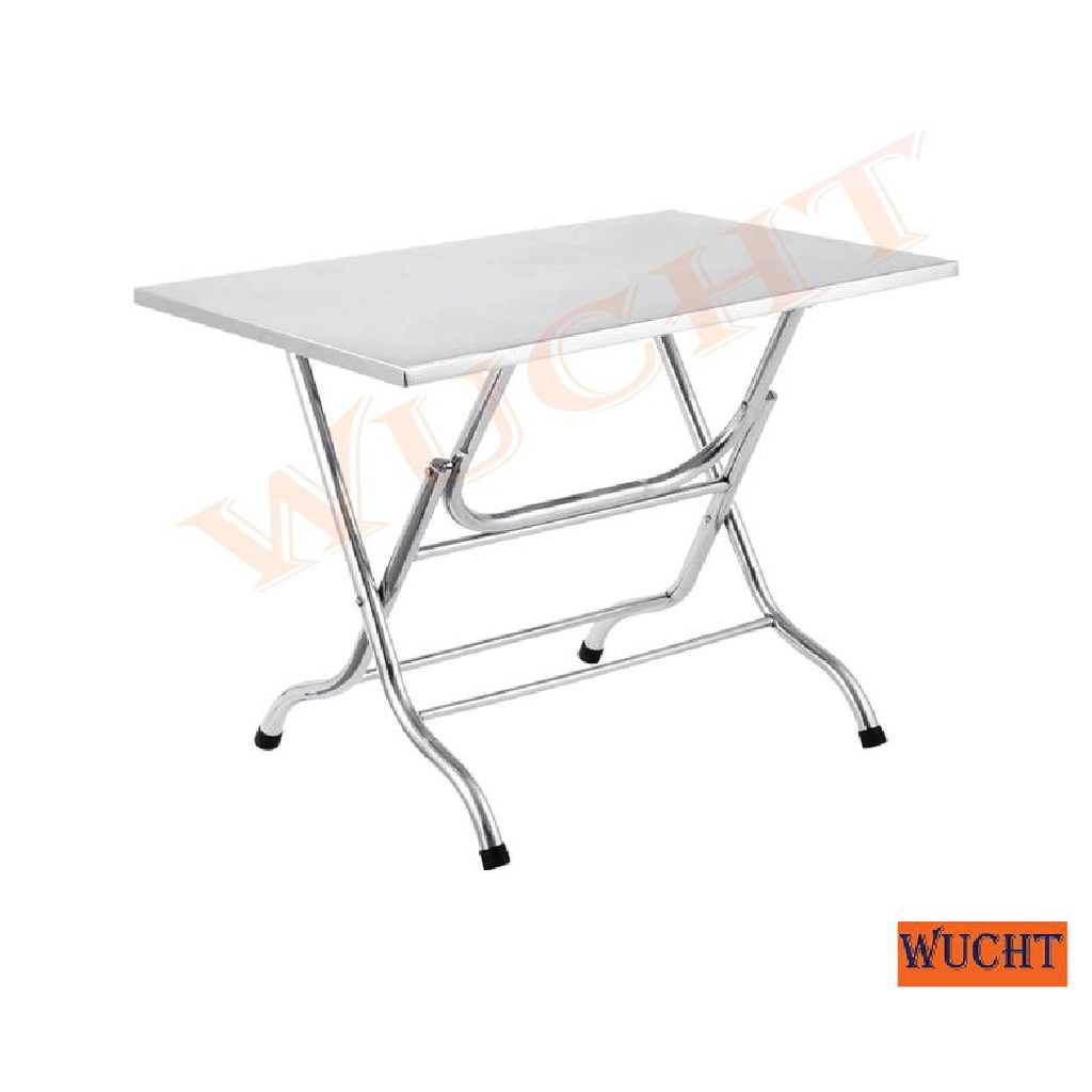 - WUCHT】Stainless Steel Square Foldable Table 3 Feet / Stainless