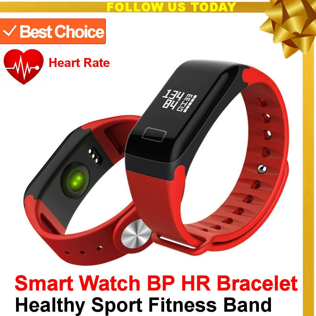 Smart Band Healthy Sport Fitness Tracker Watch Bracelet For iOS & Android -  Red