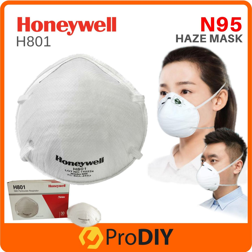 Habuk Jerebu H801 8210 Equavalent Prevention Topeng Particulate amp; Flu Smoke Diposable Honeywell Respirator Haze 3m