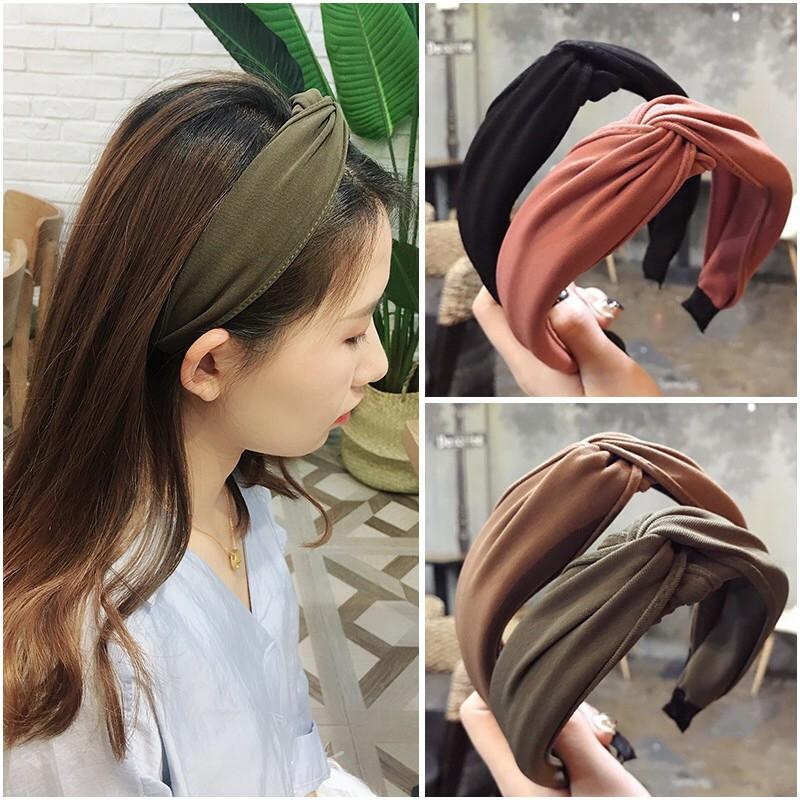 Hair Band Lady Bow Hoop Cross Twist Girls Headwrap Headband Headwear Women Knot