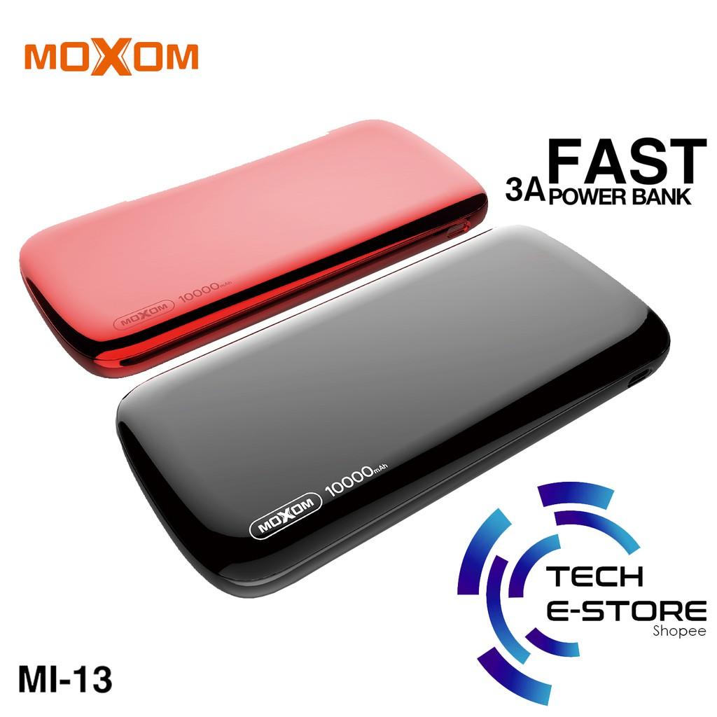 Moxom Mi 14 10000mah Dual Usb 2a Output Power Bank With Wireless Xiaomi Powerbank Slim 10000ma Charging Shopee Malaysia