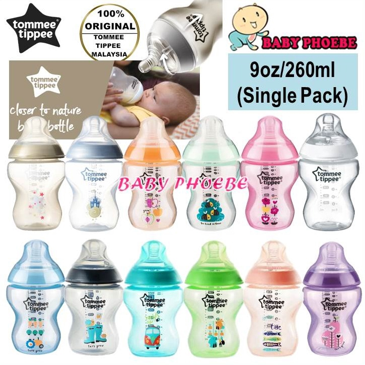 Twin Pack B+ Tommee Tippee Closer to Nature Advanced Comfort Bottles 260ml