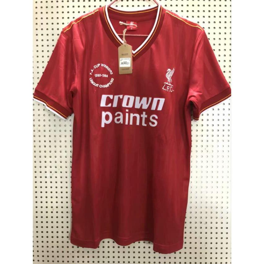 classic fit 4334e 21e35 1985 1986 season Liverpool classic retro Soccer Jerseys