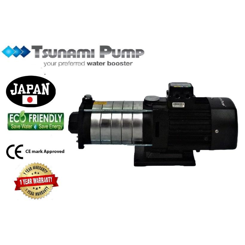 Tsunami CMH4-60T Three Phase Home Horizontal Multi-Stage Pump Water Pressure Pump Booster Pump【1 Year Warranty】