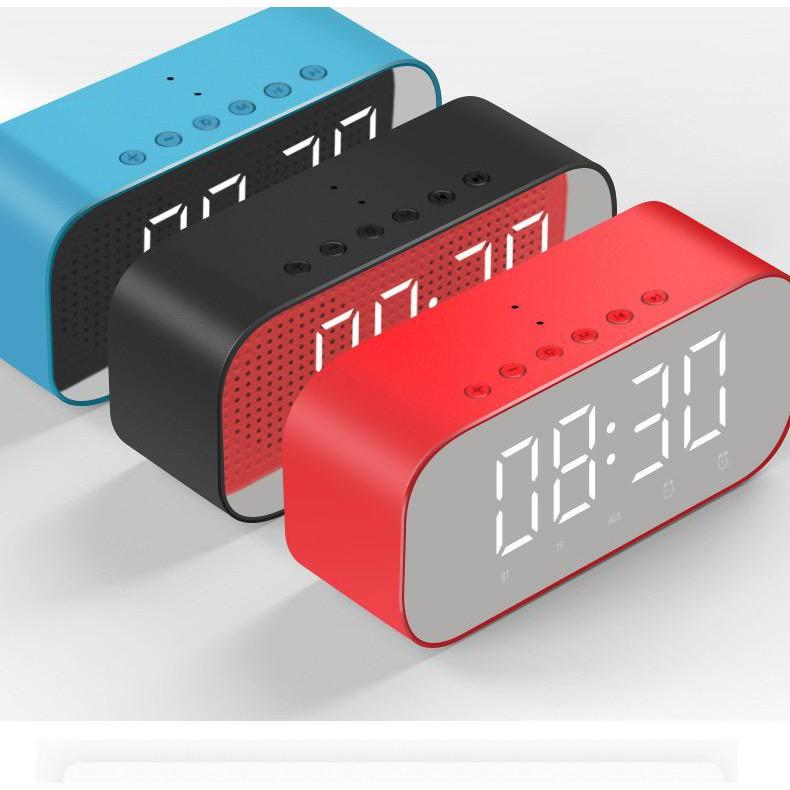 Yayusi S5 Portable Wireless Bluetooth Alarm Speaker Stereo Mirror