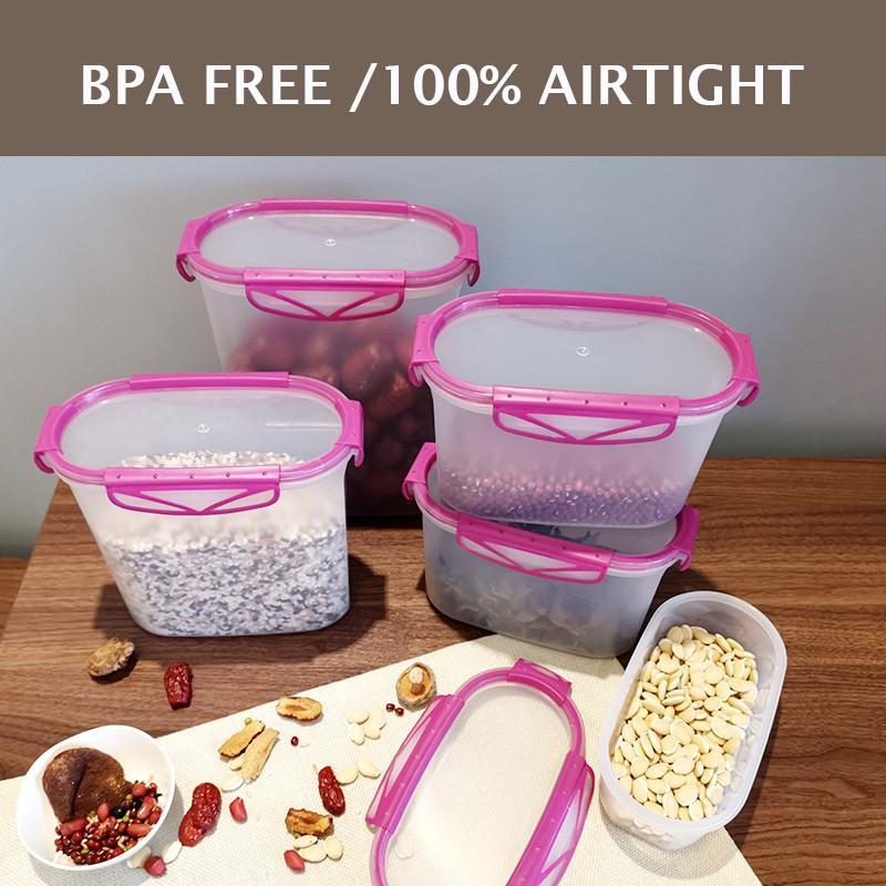 Plastic Kitchen Container Fresh Fruit Food Snacks Storage Sauce Box Food CaM/_ne