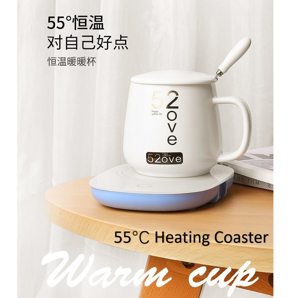 [NEW - OL/ STUDENTS] 55°C Thermostat Cup / Warm cup/ Heating Coaster 55度恒温杯/ 加热杯垫