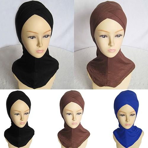 Fashion Women Muslim Scarf Full Cover Inner Hijab Cap Islamic Hat Underscarf T33