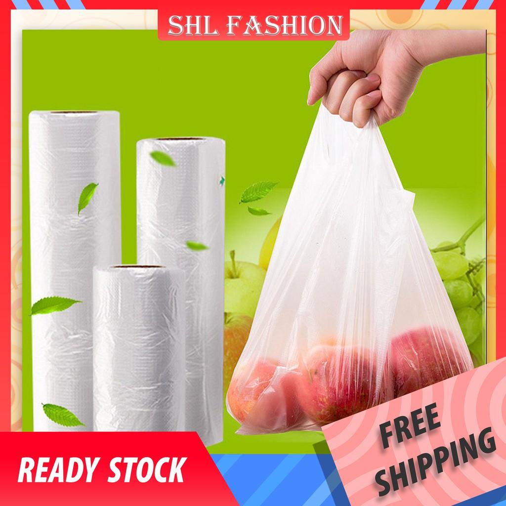 SHL Plastic Bag in Roll / HM Bag in Roll / Food Storage Bag / Plastic Beg Gulung (Food/Vegetable/Meat)