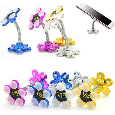 MALAYSIA SHP: 360 Degree Rotatable Metal Flower Magic Suction Cup PEMENGANG HANDSET/ HANDPHONE HOLDER