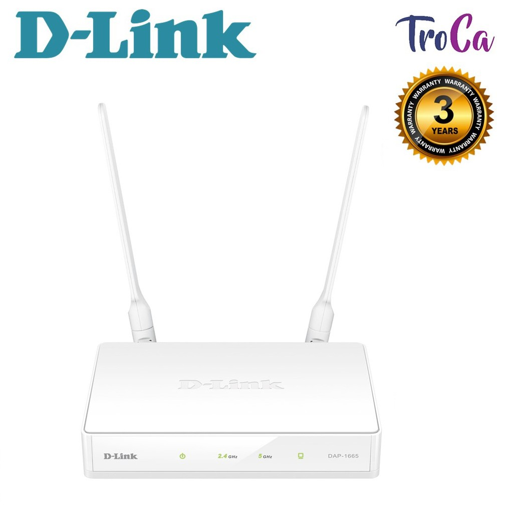 D-Link DAP-1665 AC1200 Wireless Gigabit MU-MIMO Dual Band Access Point  Extender