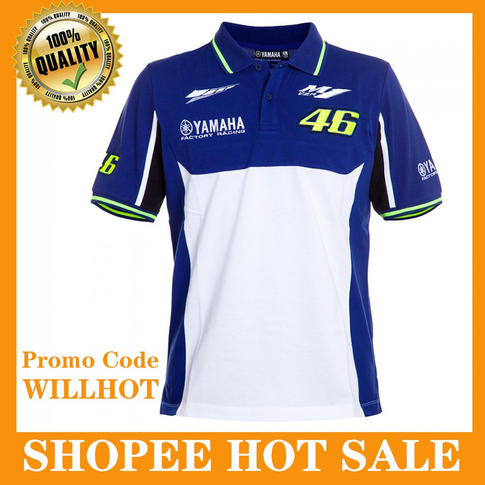 472703853db3 Valentino Rossi VR46 Men's Polo Shirt Moto GP Motorcycle M1 Yamaha Team  Racing | Shopee Malaysia