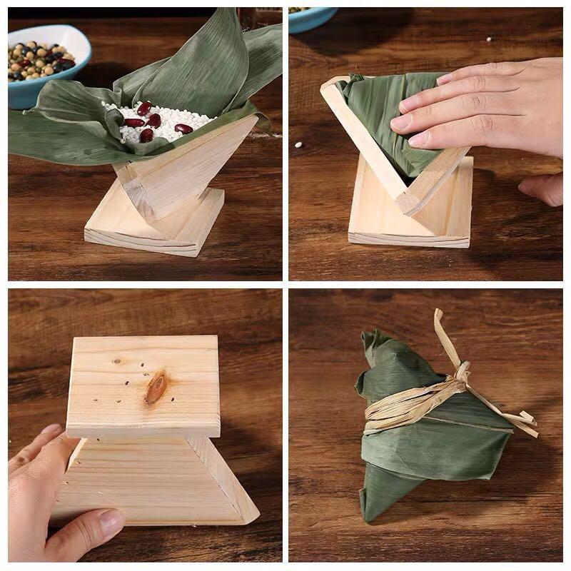 Dumpling Bao Zongzi Artifact 端午节手工木制快速包粽子的模具神器/三角/四角商用包粽工具