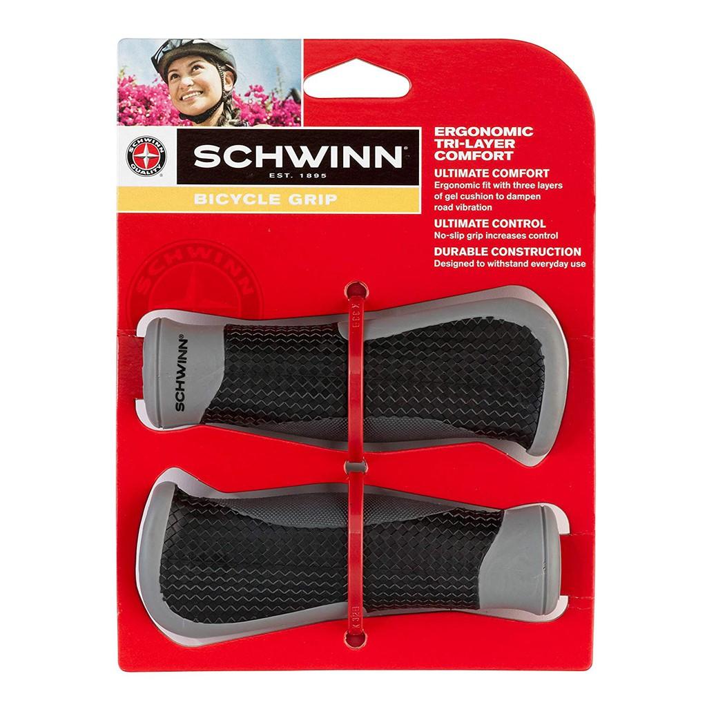 Black Schwinn Sw75823-6 Tri-Layer Gel Comfort Grip