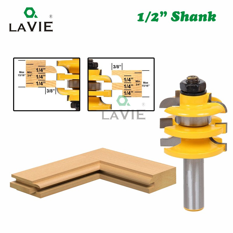 1//2 Inch Shank Rail And Stile Router Bit Woodworking Chisel Cutter