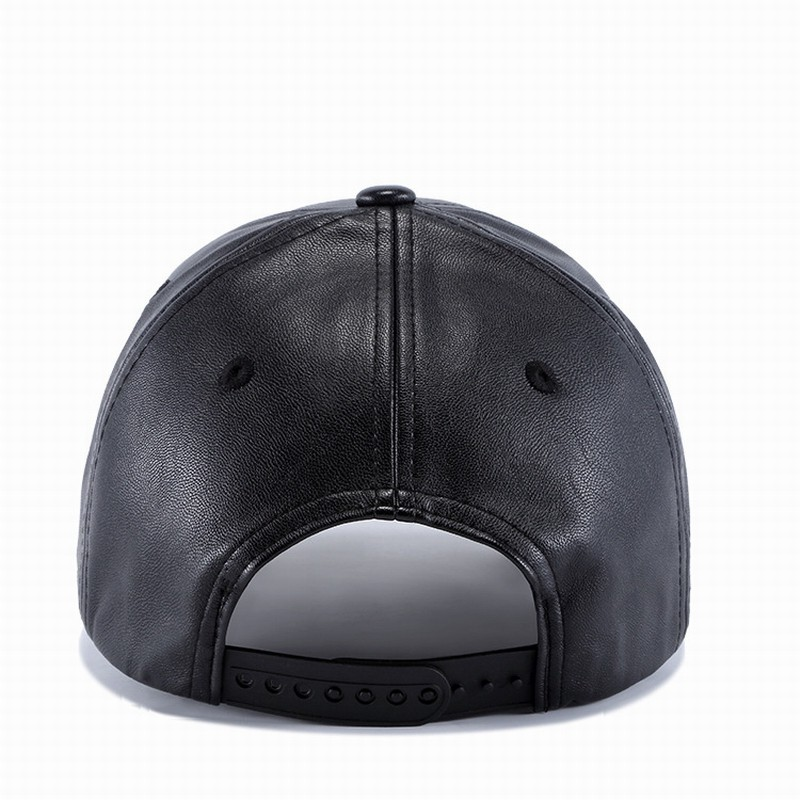 a3924c3d913c4 Wuke K604 Adjustable Black PU Leather Baseball Cap Outdoor Sport Hat |  Shopee Malaysia