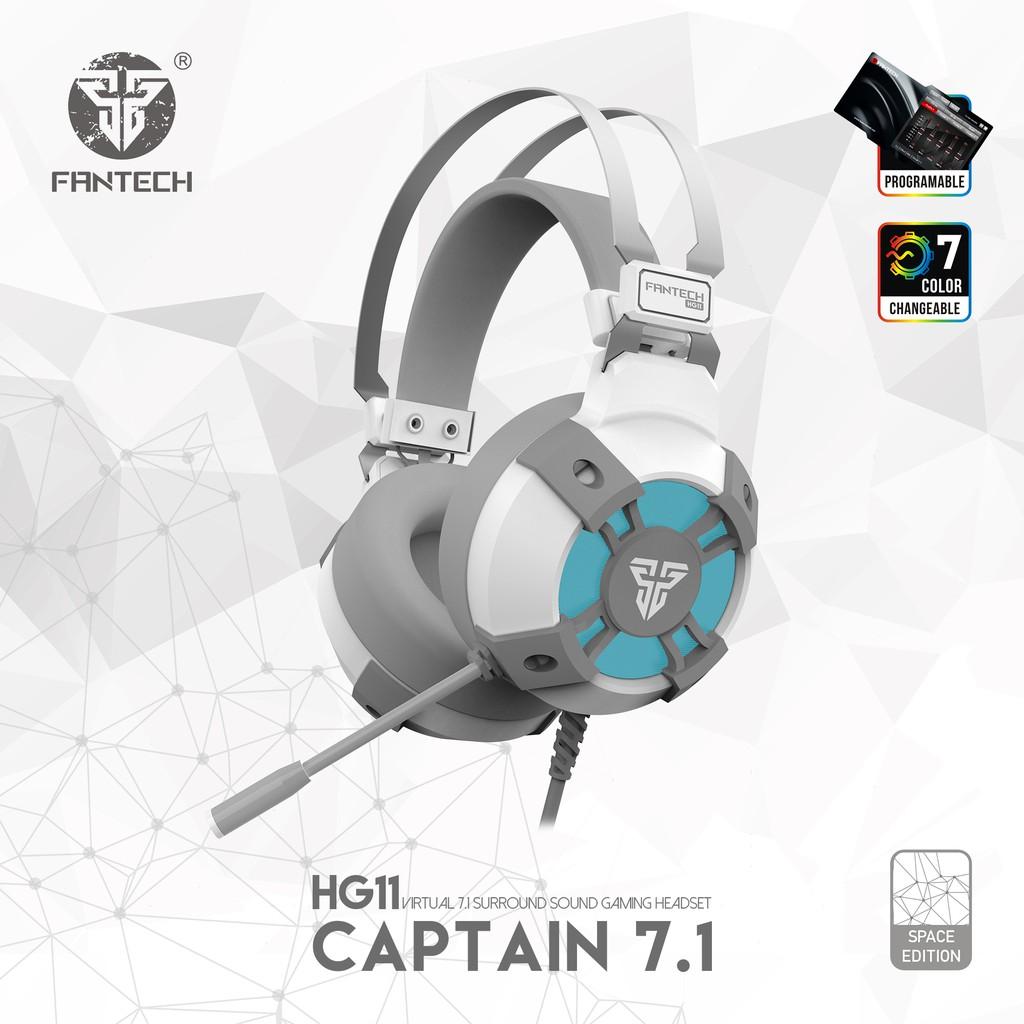 Fantech Headset Captain True Virtual Surround Sound 7.1 HG11 Sakura Space Edition