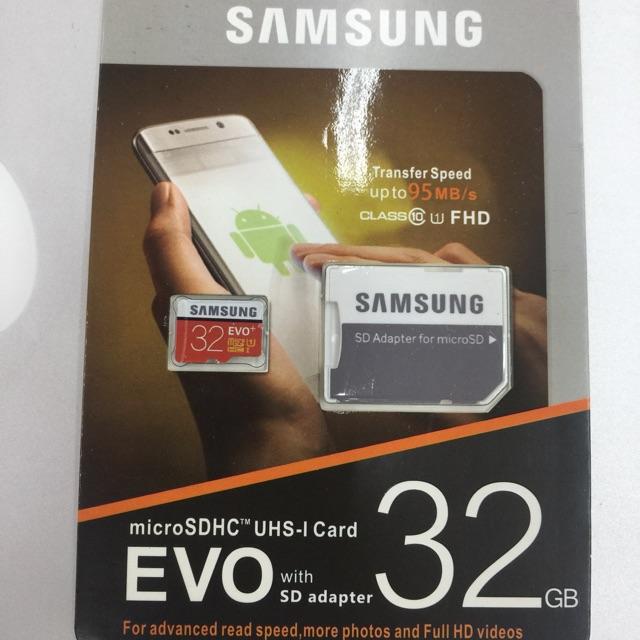 ORIGINAL 32GB C10 - Samsung Evo + Memory Card with Adaptor
