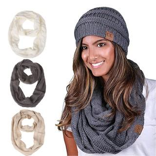 1d1cd764c3b2a Wool Hat Bib Set Cap Lady Outdoor Warm Autumn and Winter Knit Hat scarf |  Shopee Malaysia