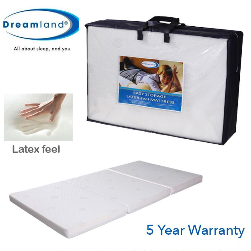 Dreamland tri fold foldable premium rebound foam single size mattress