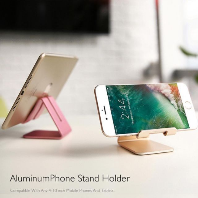 Aluminum Phone Stand Holder -Aluminum Desktop Solid Portable Universal Desk Stand For All Mobile Smart Phone Tablet