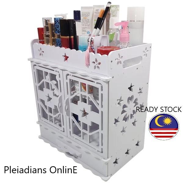 [ READY STOCK ]  European Style multi-layer Princess cosmetic storage box cabinet rack