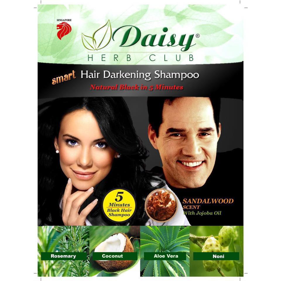 Daisy Herb Club Hair Color 1 Packet Black/Dark Brown
