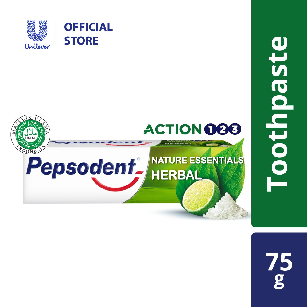 Pepsodent Action 123 Herbal Toothpaste 75g