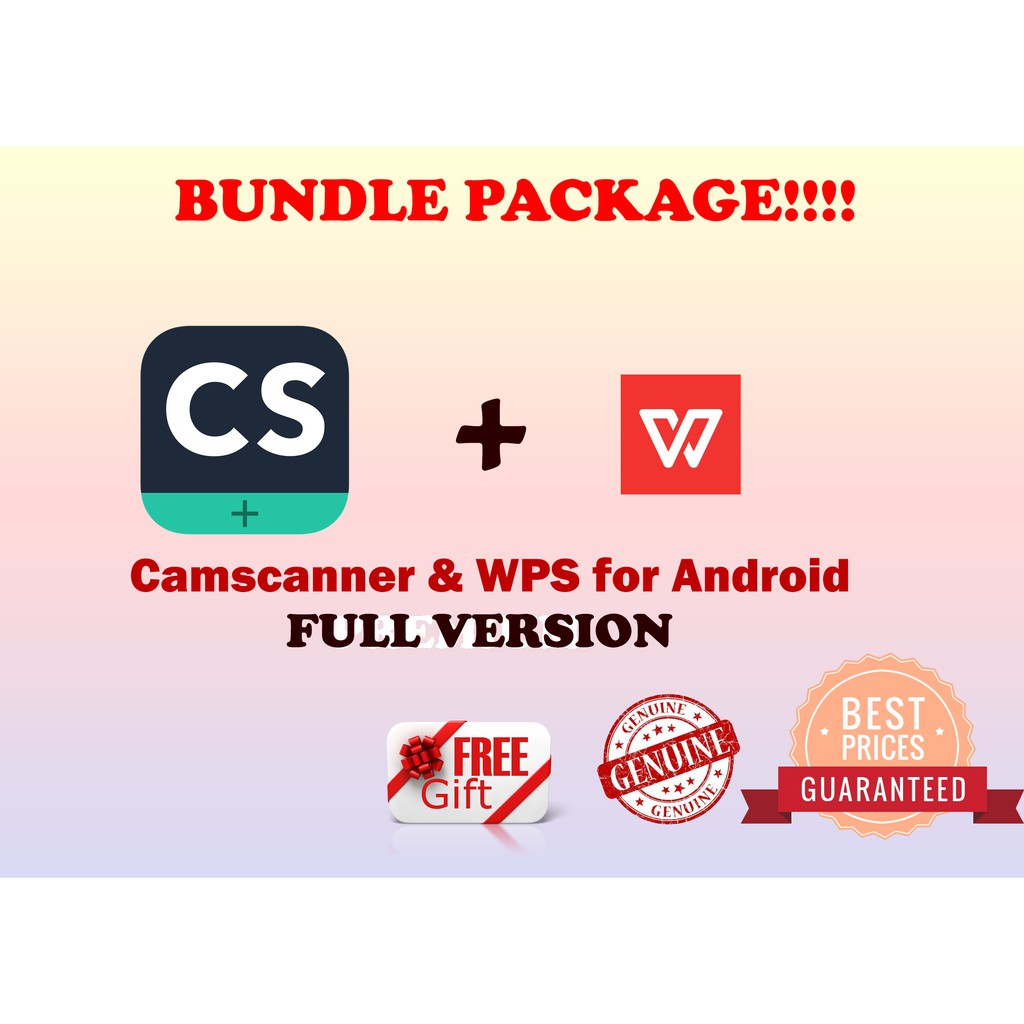 [LATEST] Camscanner Full Version + WPS PREMIUM for Android