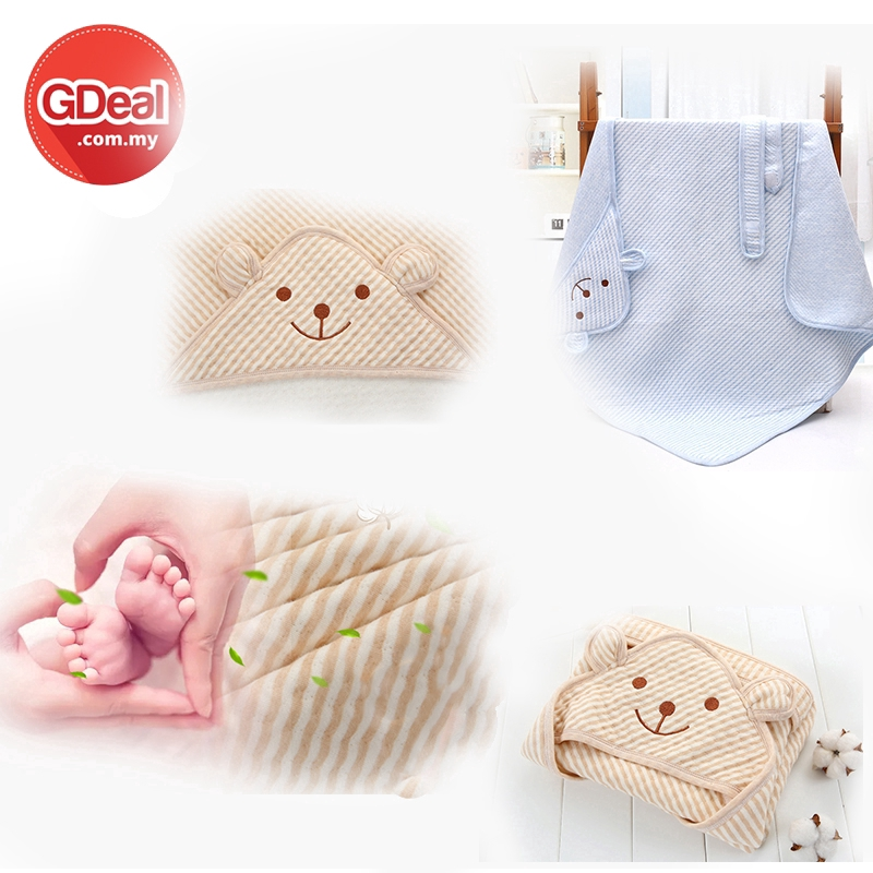 GDeal Baby Super Absorbent Soft Cotton Holding Towel Blanket Cute Bear Cartoon High Quality