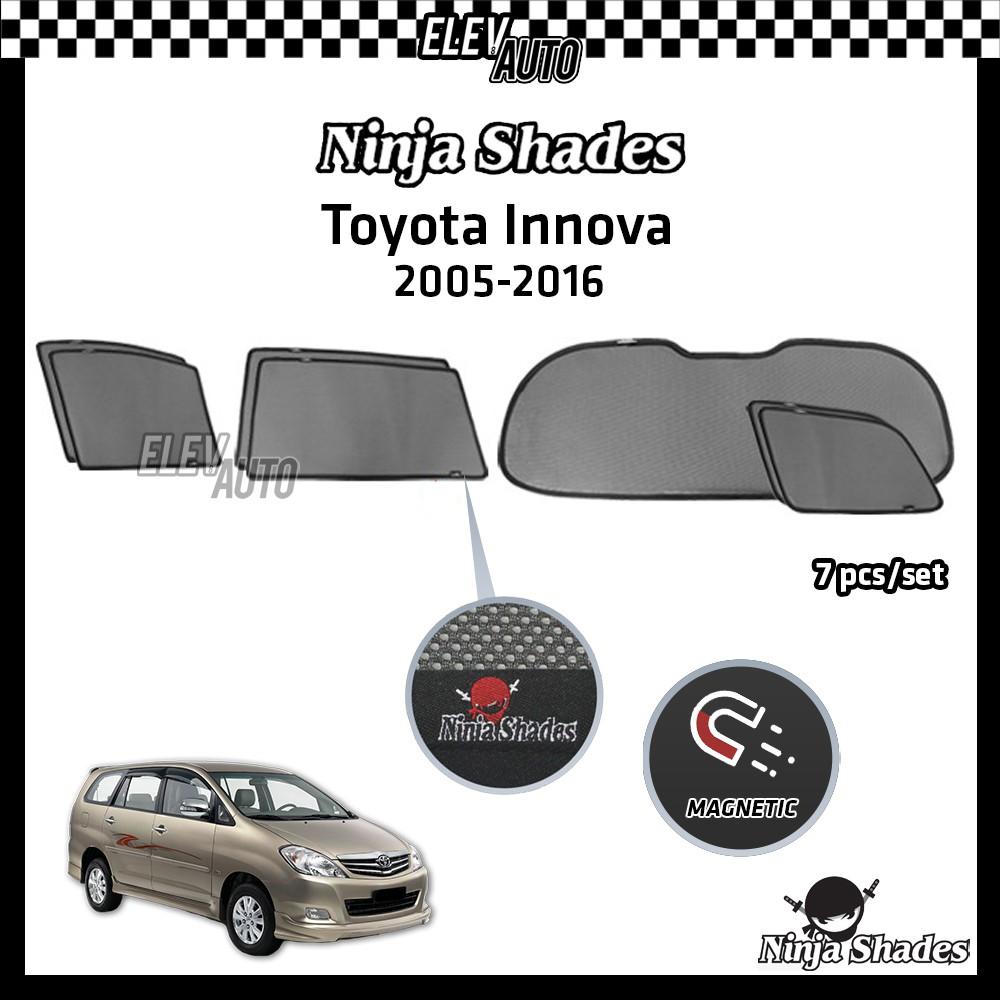 Toyota Innova (2005-2016) Ninja Shade OEM Magnetic Sunshades