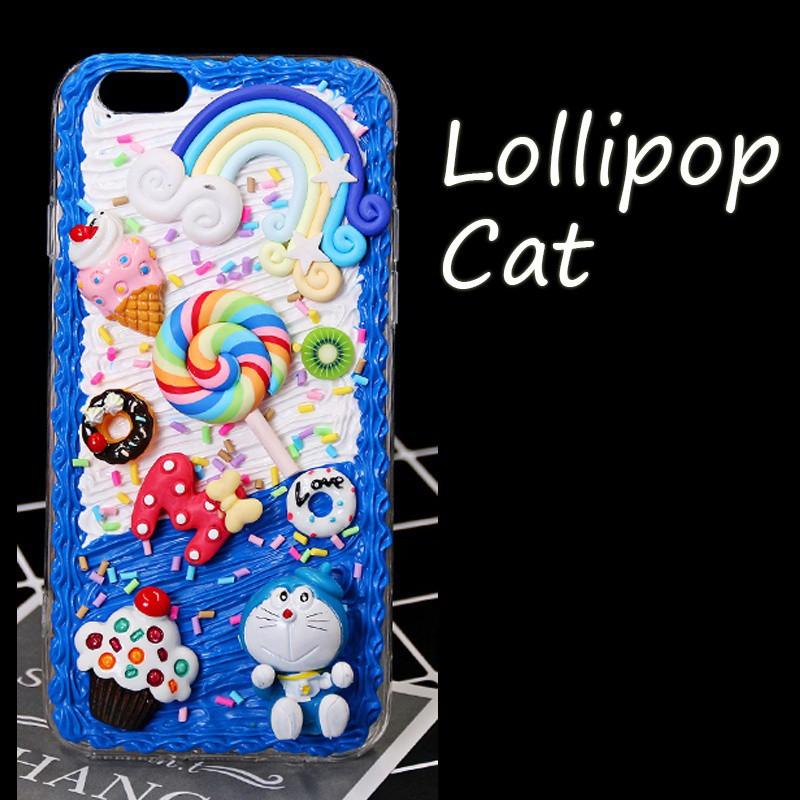 the best attitude c66b5 a340c DIY Phone Case Handmade Kit Lollipop Cat Style Unique Soft TPU Back Phone  Case