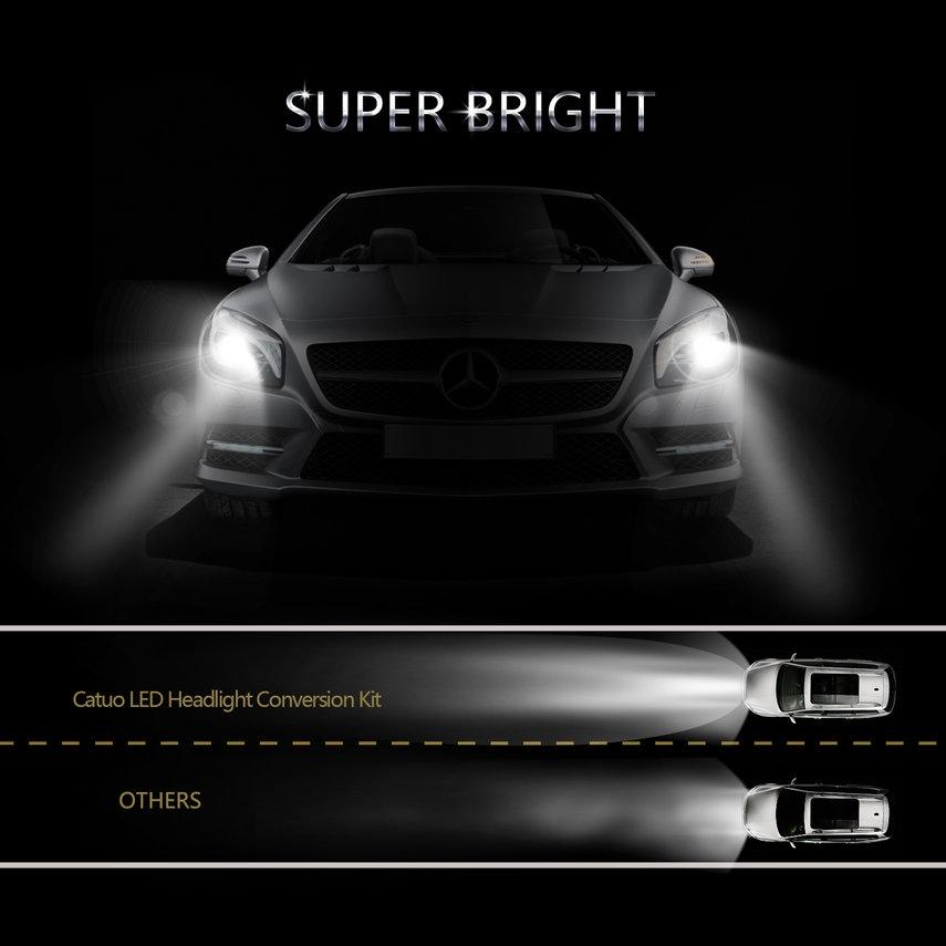 H13 39W Super Bright LED 4 Sides 360° Fix Light Auto Head Light Bulb Compact