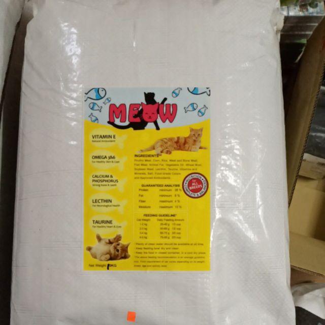 Meow Cat Food All Breeds Makanan Kucing Murah 10kg Shopee Malaysia
