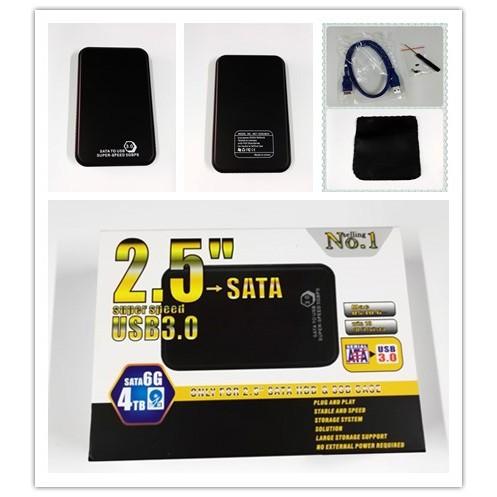 2.5 Inch USB 3.0 SATA External HDD Hard Disk SSD Drive Enclosure Cover Case