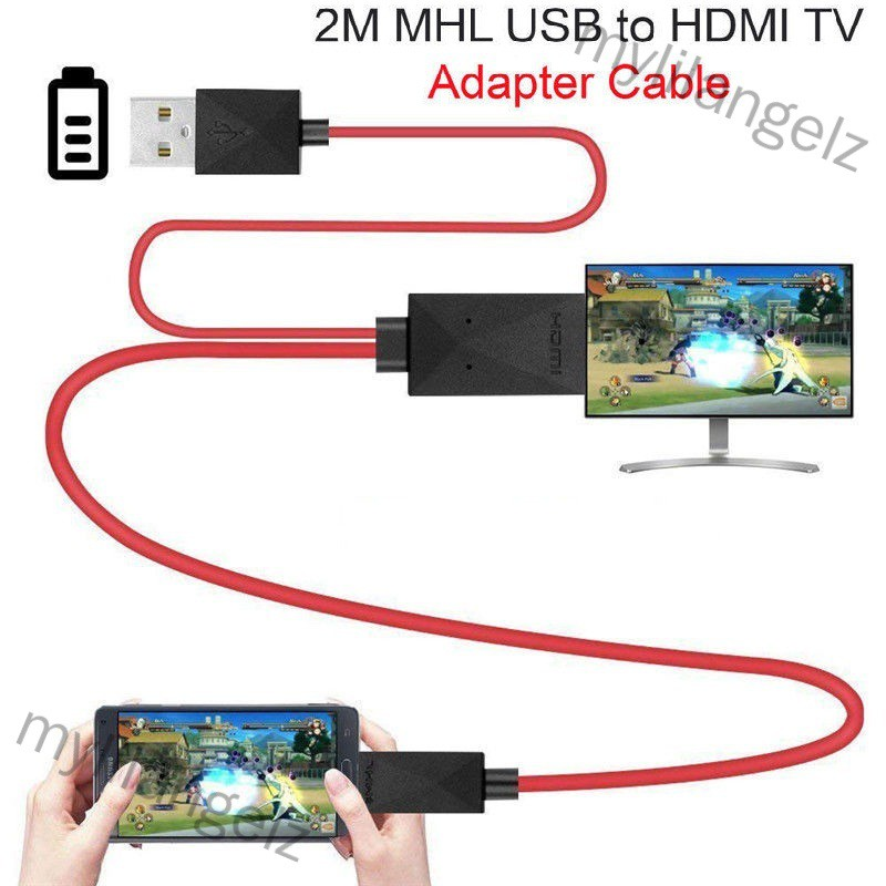 Mylilangelz Micro USB to HDMI 1080P HD TV Cable Adapter for Android Samsung Phones 11PIN