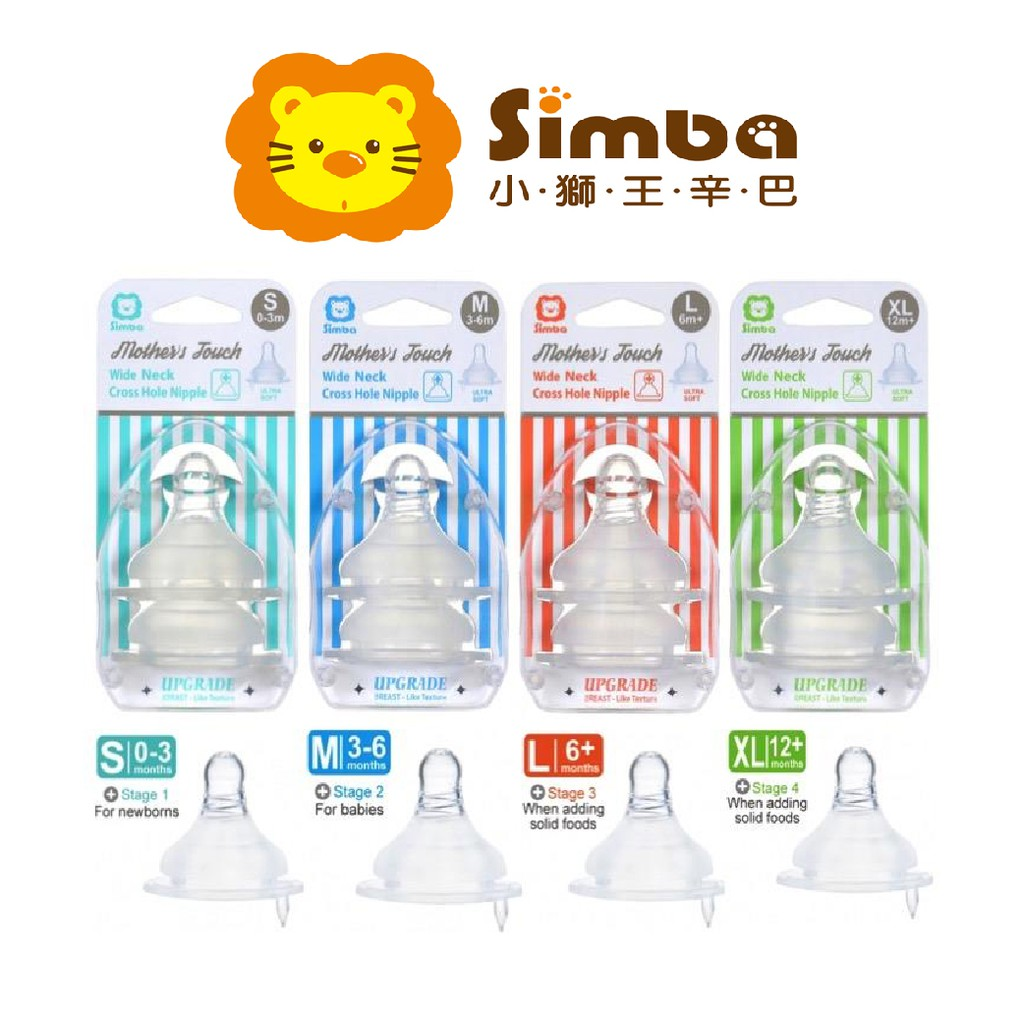 Simba Wide Neck Round Hole Anti-Colic Nipple 2P Medium